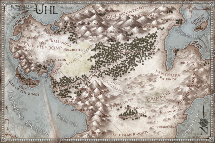 World of Uhl map