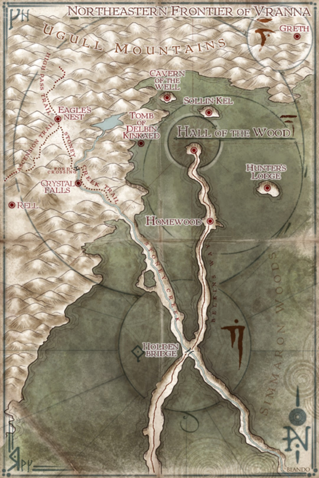 Map for The Hall of the Wood