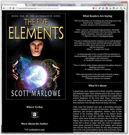 The Five Elements landing page